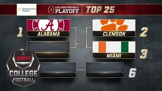 Alabama takes No. 1 spot in new College Football Playoff rankings | ESPN