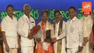Telangana Council Chairmen Swamy Goud Felicitates Dance Master Perini Kumar in Hyderabad