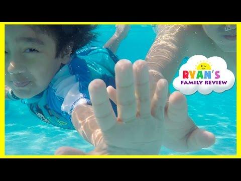 Kid Playtime at the Pool! Family Fun Vacation Disney's Art of Animation Resort Splash Pad for Kids
