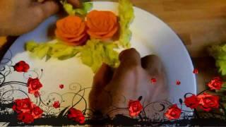 Art In Carrot Show- Fruit Carrot Rose Garnishes