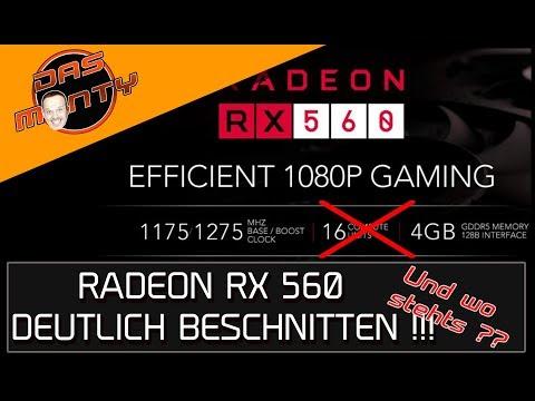 AMD Radeon RX 560 deutlich beschnitten, aber nicht als RX 555 gekennzeichnet | DasMonty - Youtube