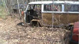 private old car junk yard in maine pt 2