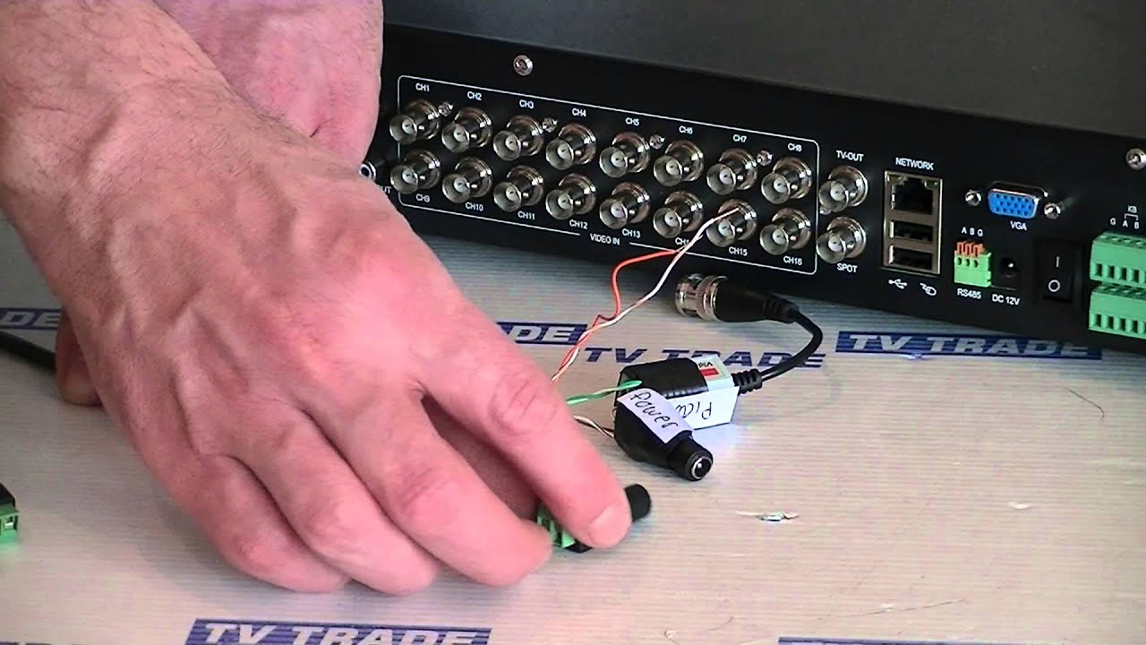 How To Connect A Ptz Camera To A Dvr Youtube