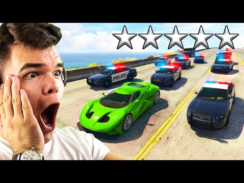Can You ESCAPE 5 STARS WANTED in GTA 5?!