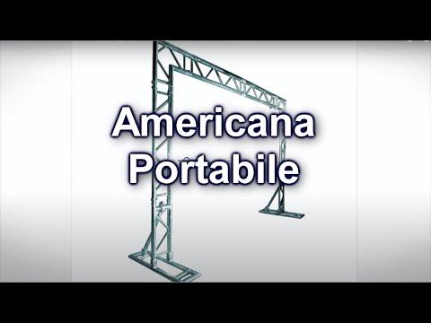 Video Americana Portatile per dj set o coreografie in stand fiera,foto,cine.