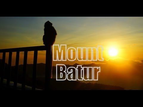Hiking an active volcano (Mount Batur) for sunrise in Bali, Indonesia
