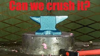 Crushing Anvil With Hydraulic Press