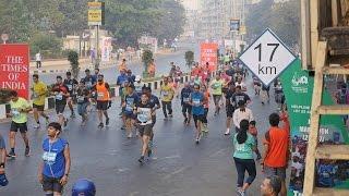 Mumbai Marathon 2017 Part 6 HD Video.Mumbai Run for good Cause.Indian Runners.Mega Sports Event