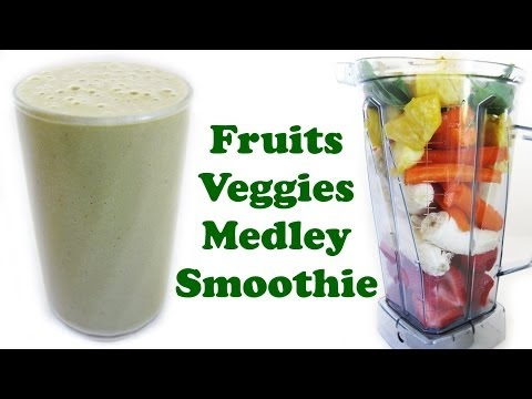 Healthy Smoothie Fruits Pineapple Strawberry Banana Veggies Spinach Carrots Milkshake Recipe Jazevox