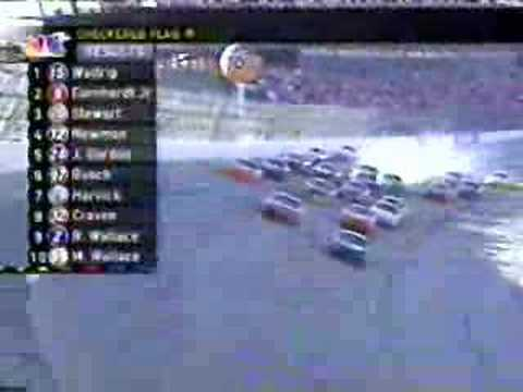 Michael Waltrip wins Talladega Video