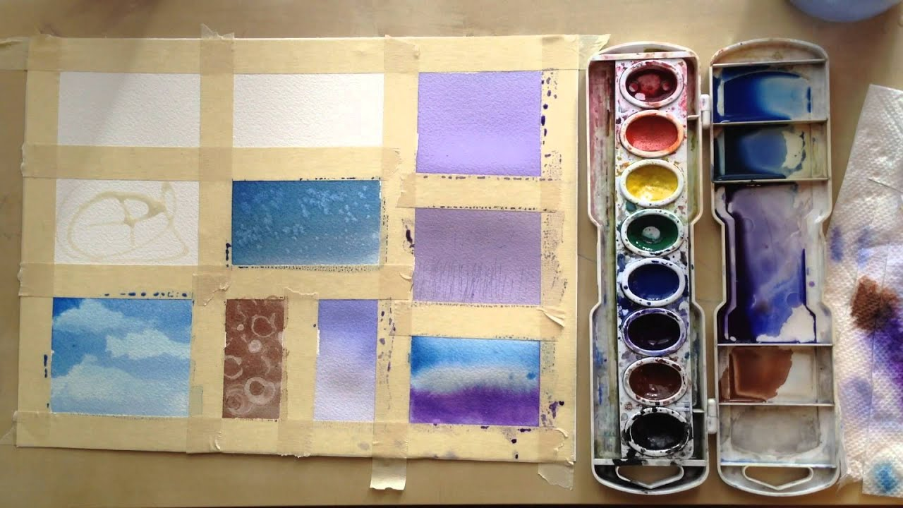 13 watercolor techniques youtube for Watercolour tips and tricks