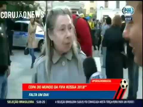 Прикол.Испанский журналист и русская бабушка!!!!!