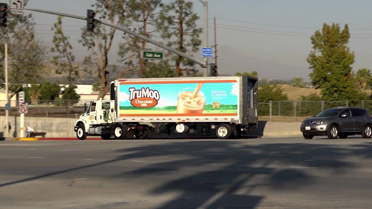Semi Truck And Trailer >> TruMoo & Alta Dena - Dean Foods Milk Ads on Truck - YouTube