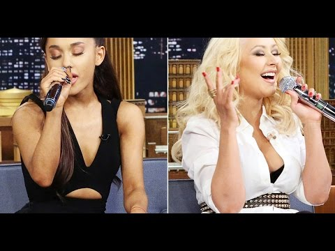Some singers imitate Christina Aguilera!