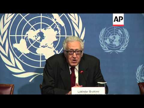 UN envoy Brahimi says no deal on date for Syria peace conference in Geneva this year