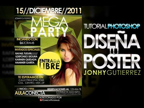 Tutorial Photoshop // Diseño de un cartel publicitario  (By Jonhy Gutierrez)