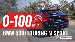 2018 BMW 530i Touring M Sport 0-100km/h & engine sound