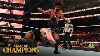 Seth Rollins drills Braun Strowman with three straight Stomps: Clash of Champions 2019 (WWE Network)