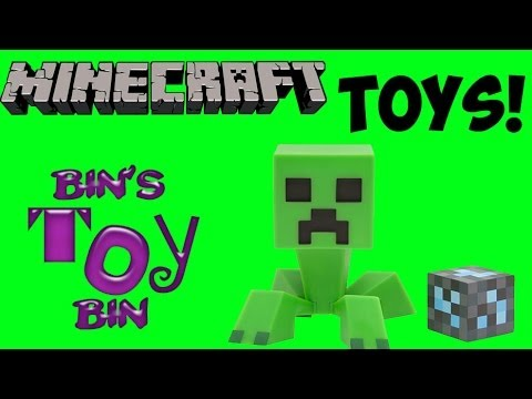 Minecraft Toys! Vinyl Creeper & Action Figures from Mojang! Review by Bin's Toy Bin