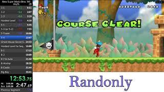 New Super Mario Bros Wii Emulator Speedrun in 32:42!