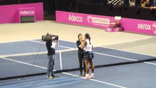 Fed Cup 2012 Serena Williams on court interview with Corina Morariu