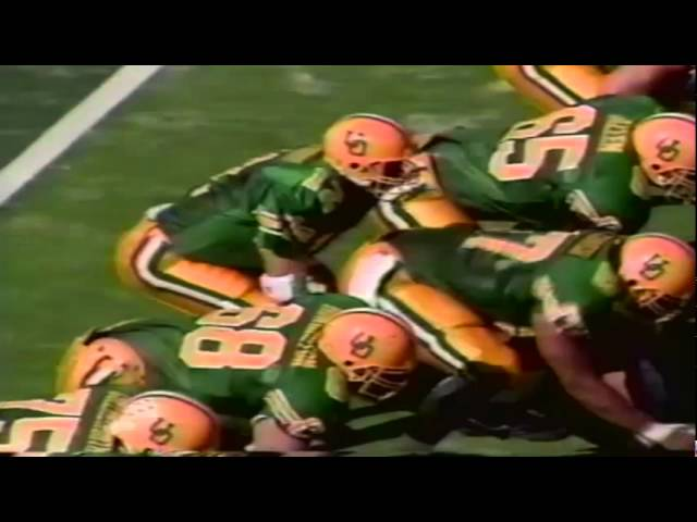 Oregon TE Jeff Thomason 40 yard catch vs. New Mexico St. 10-05-91