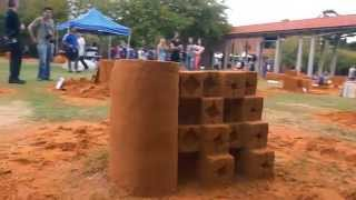 Sanditecture: Curtin students' amazing sand structures!