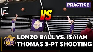 Lonzo Ball vs. Isaiah Thomas In 3-Point Shoot Around After Practice