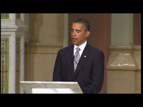 Obama s eulogy to Edward Kennedy,  a kind and tender hero