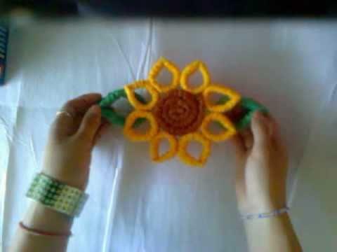 Idea flores girasoles corrugados adorno primavera for Cortinas amarillas