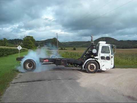 Cabover Burnouts from Maxville Truck and Repair 6 speed Allison Automatic Transmission