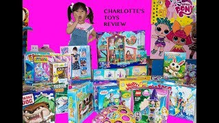 Charlotte's toys review 10: unboxing many new toys barbie disney princess car shopkin baby doll pony