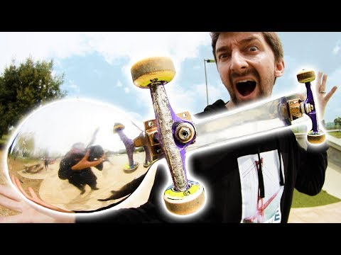 SKATEBOARDING A GIANT SPOON!  | SKATE EVERYTHING EP 90