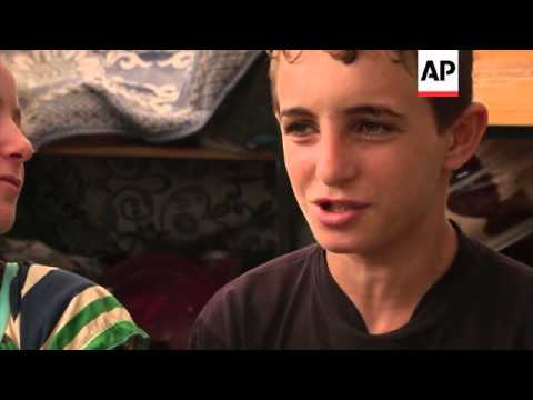 ONLY ON AP - War related trauma scars Gaza children as many are forced to flee again