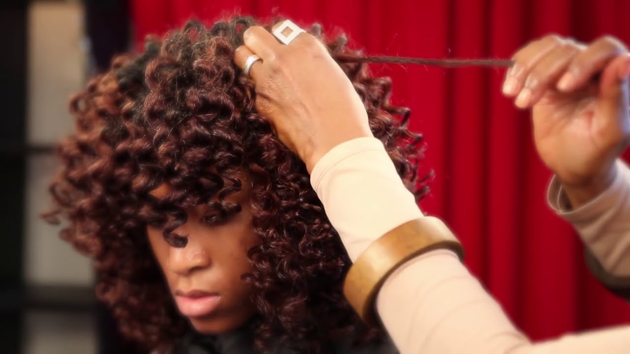Spiral Rods On Natural Hair