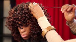 Natural Hair Heatless Voluminous Curls & Waves Flexi-Rod Set