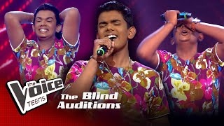 Thisara Vageesha | Sanda Mithuri Blind Auditions | The Voice Teens Sri Lanka