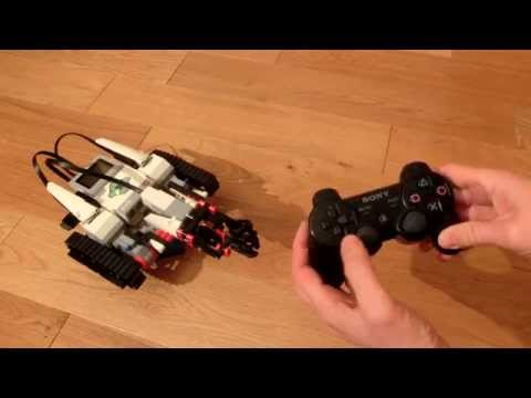 PS3 Gamepad Controlling LEGO Mindstorms EV3 TRACK3R Directly Over Bluetooth