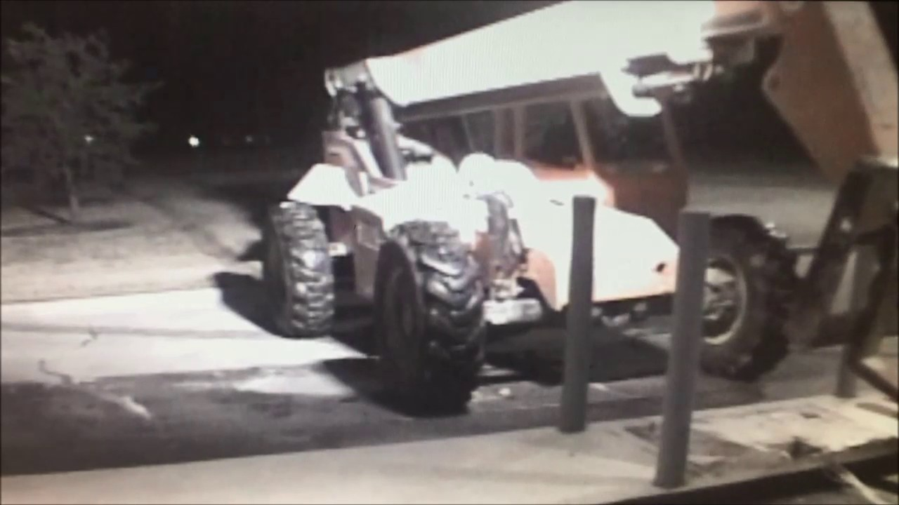 Masterminds Rob ATM Using Vehicles Stolen From A Construction Site