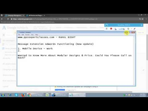 Adwords Message Extension Tutorial