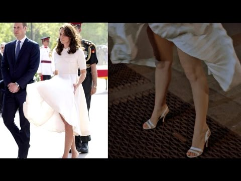 While Wearing White Dress Kate Middleton Has a Marilyn Monroe Moment