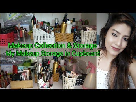 My Makeup Collection & Storage (2018) | Indian Girl Makeup Collection