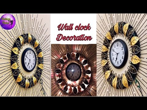 Diy floral designer wall clock//Diy wall clock//wall decoration idea//Fashion pixies