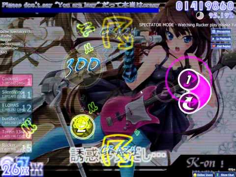 osu! ~ Spectating Rucker playing / fail: Hisaka Yoko - Don't Say