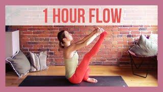 1 Hour Vinyasa Flow For Flexibility - 60 min Intermediate Yoga