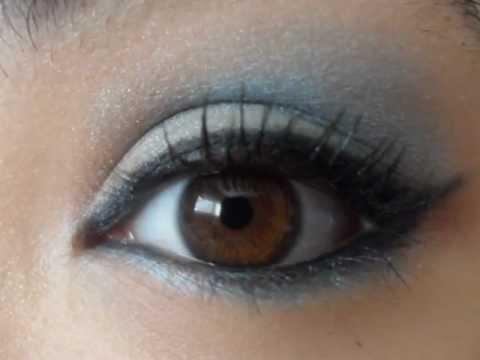 Maquillaje de Ojos Cafes Maquillaje de Ojos Azul Para