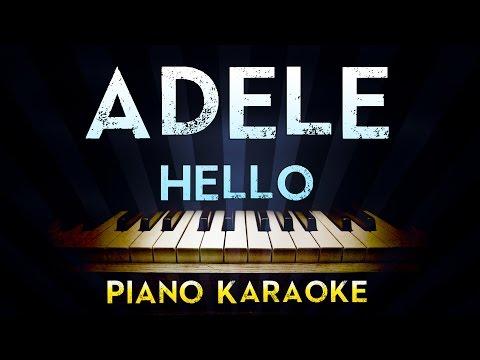 Adele - Hello   Lower Key Piano Karaoke Instrumental Lyrics Cover Sing Along