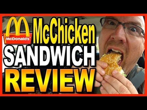 McDonald's McChicken Sandwich Combo Review and Drive Thru Test