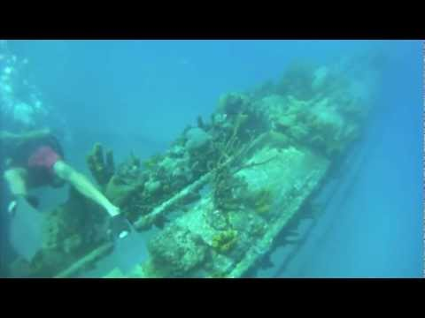 Diving the MS Antilla in Aruba