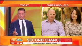 NRL legend, Kerrod Walters' heart attack at 45 - on the Today Show